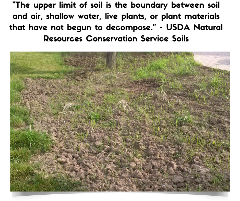 Upper limit of soil